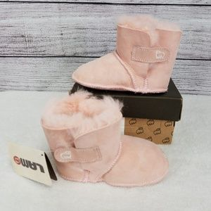 LAMO Baby Booties Suede Real Sheepskin XL - US 7